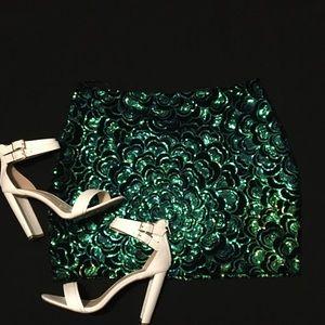 H&M sequin mini skirt
